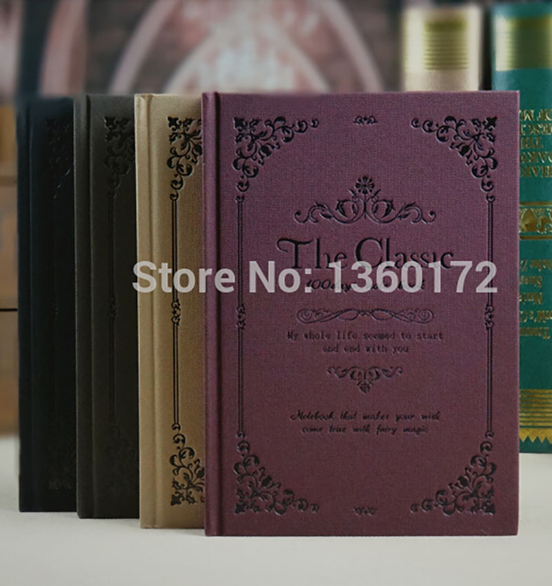 2017 Cute Vintage Creative Hard Paper European-style Notebooks Agenda Notepad Diary Day Planner Jotter Journal Record Stationery - N I C E S H O P store