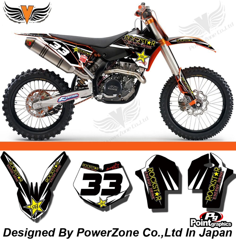Team Graphics & Backgrounds Decals 3M Stickers ROCK Kit KTM SX SXF 2007 -2010 EXC 2008 2009-2011 -14 Free Shpping