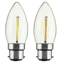 Buy LED Light B22 C35 Retro Vintage Edison Bulb Filament Candle Light Lamp Bulbs 2W 4W 6W COB Warm Pure White Non Dimmable AC 220V for $2.49 in AliExpress store