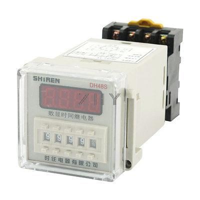 DC 48V 35mm DIN Rail 11Pin 0.01s-9999h Delay Timing Time Relay Timer DH48S-11(China (Mainland))
