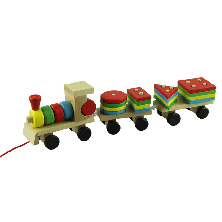 Best seller Wooden Toys Children Wooden Stacking Train ...