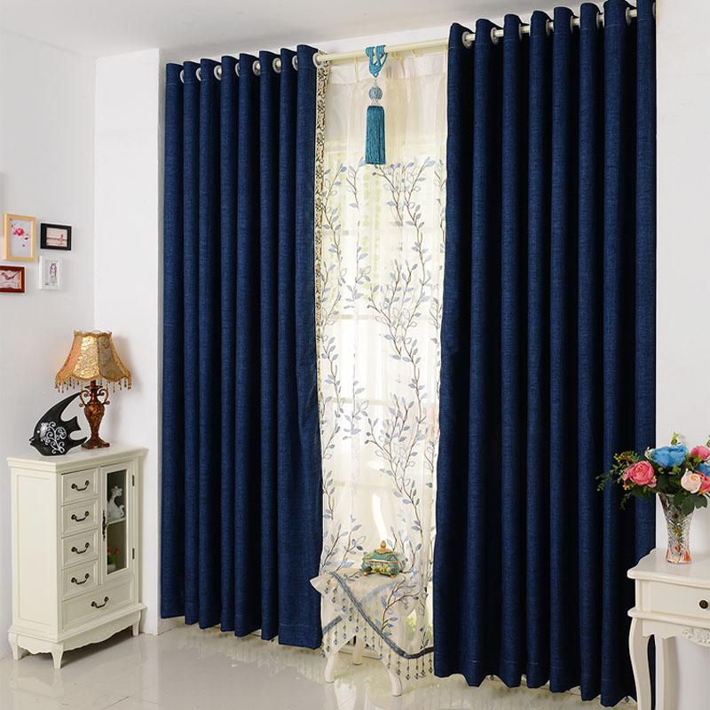 color cotton curtain fabric curtains living room bedroom blackout