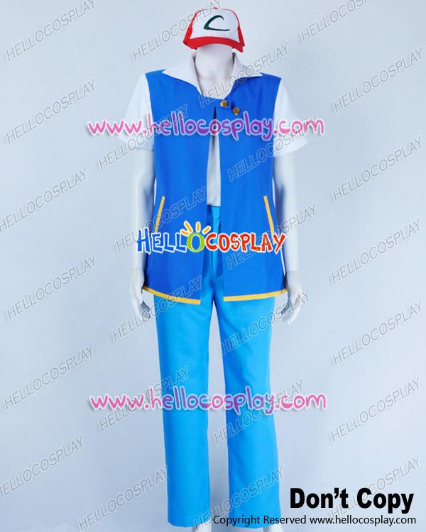 Ash Ketchum Costume Adults Ash Ketchum Costume Blue