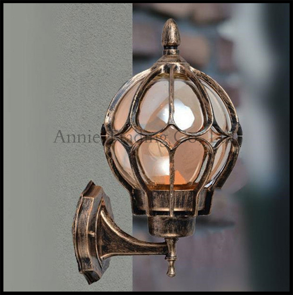 Wall Lamps Europe : European wall lamp outdoor lights villa balcony garden lamps lighting retro iluminacion exterior ...