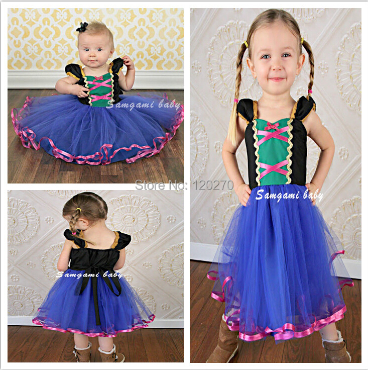 Summer Baby Girls ANNA Princess Cake Dress Bow Layered Tutu Kids Children's One-Piece Ball Gown - Honey Baby's store
