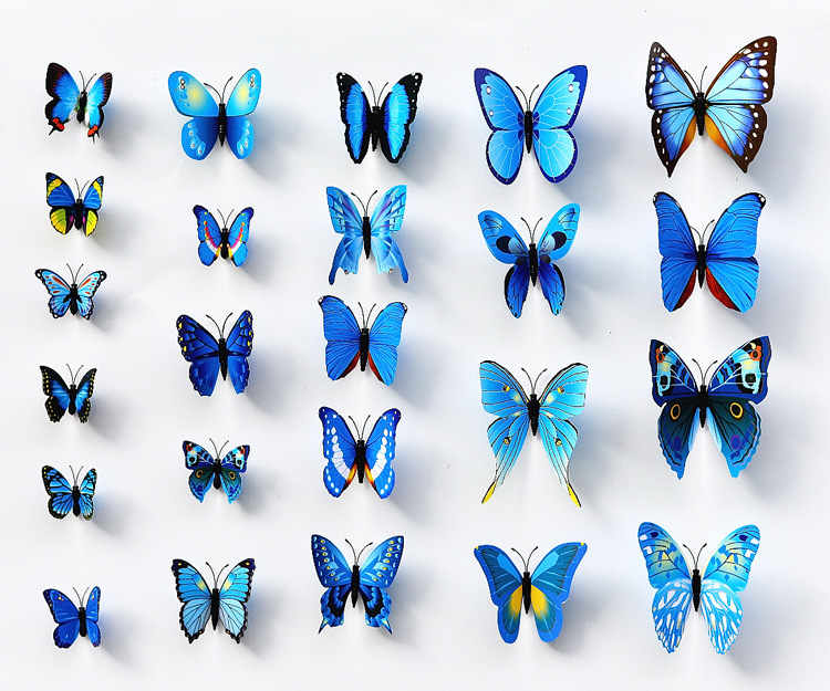 hot! 13D butterfly Double Wing Artificial beautiful pin Wedding Decorations Home party wall Stickers decor - United States Good Service Best Price store
