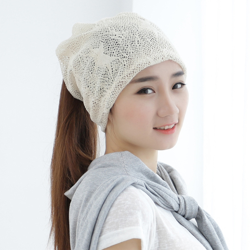 Hat female summer and winter version breathable lace scarf head cap manufacturers wholesale women Skullies & Beanies(China (Mainland))