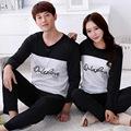 2015 spring autumn long sleeve Lovers sleepwear cartoon lovers home clothing couples matching pajamas adult pyjamas