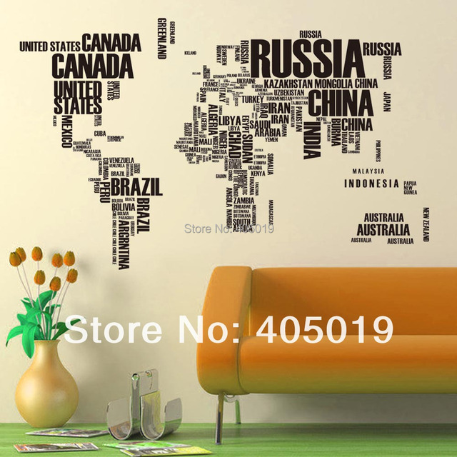 free express 190x116cm 75x46 95ab world map wall sticker 2pcs aliexpresscom buy office decoration diy wall