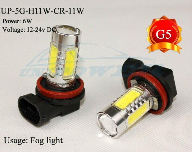 Hot selling High-power led fog light H11 11W the 5th generation 5 side lighting auto led fog lamp CREE chip Free shipping