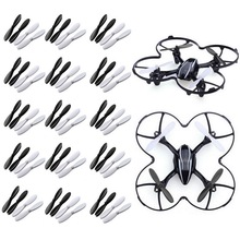 60pcs 2-Blade Black White CW CCW Propellers for Hubsan X4 H107L H107C H107D Quadcopter Helicopter Drone Replacement Spare Part