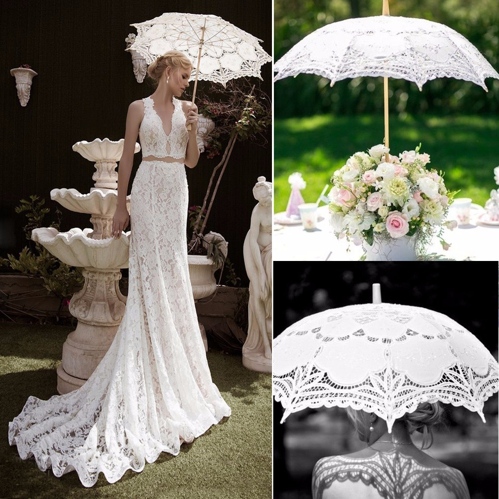 Online get cheap white umbrellas wedding aliexpresscom for Umbrella wedding photos