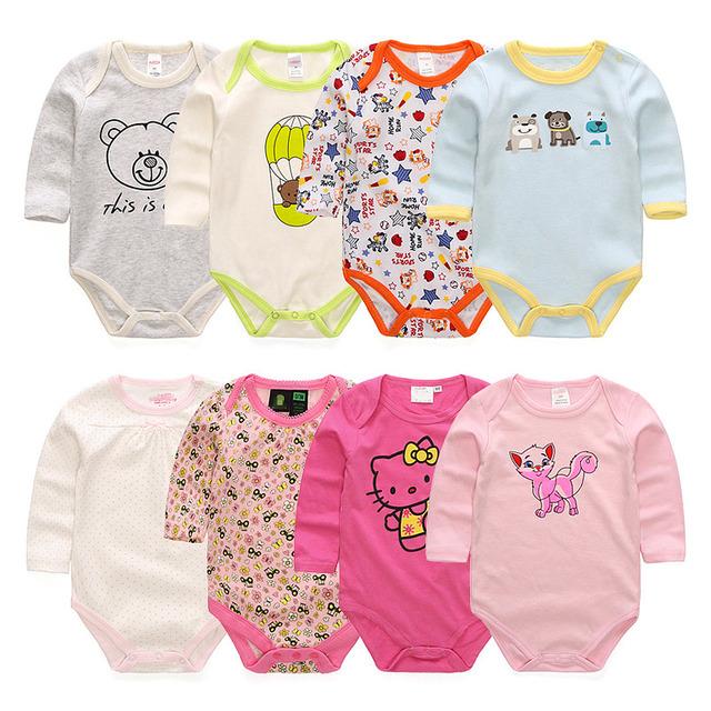Новорожденный ребенок одежда 100% хлопок комбинезон мальчик девочка с длинными рукавами костюм новорожденного комбинезон одежда