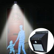 Outdoor Solar Lamp PIR Sensor Light Control 6 SMD 2835 LEDs IP65 Water Resistant Garden Lamp Fence Garden Pathway Lamp 1383644(China (Mainland))
