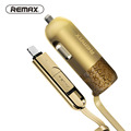 Remax USB Car Charger Total 3 4A with Spring Shape Micro USB Cable Lighting Cable for