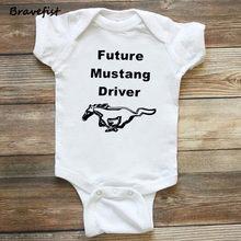 Боди для новорожденных с принтом лошади, белые и черные комбинезоны для детей от 0 до 24 месяцев, одежда с короткими рукавами для малышей летн...(China)