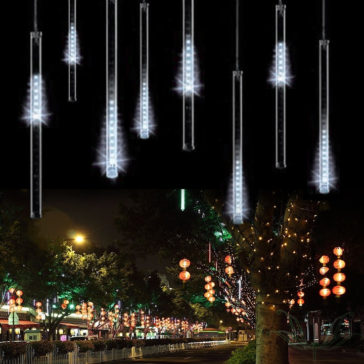 free shiping 8pcs 50CM Meteor Shower Rain Tubes LED Light For Christmas Wedding Garden Decoration 100-240V<br><br>Aliexpress