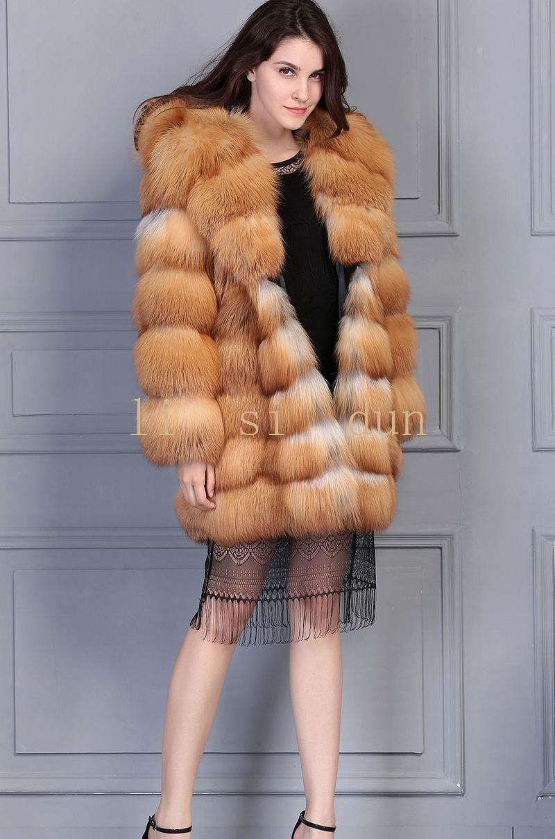 Online Get Cheap Women Red Fox Fur Coat with Hood -Aliexpress.com