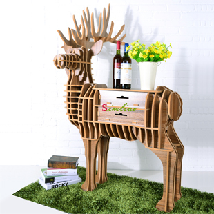 Deer puzzle table with drawer,Animal Multi-Purpose Furniture,Diy assembled animal table,deer table for living room,animal rack(China (Mainland))