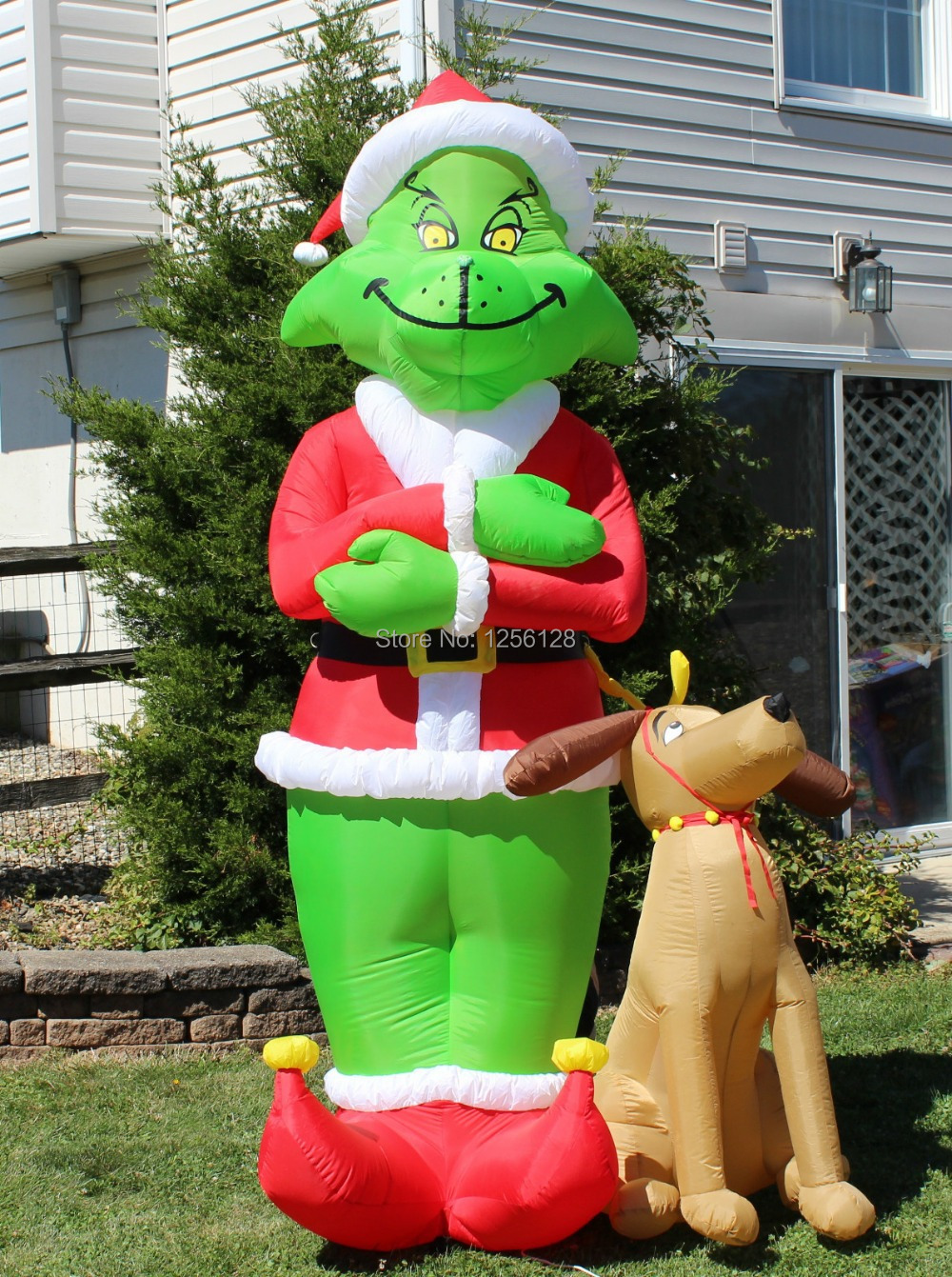 grinch inflatable christmas decorations decoration image idea