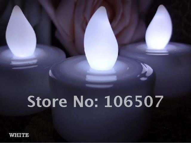 Wholesale!100% quanlity assurances,environmental protection,24PCS on-off White Light LED Candle Lamp Wedding party decor