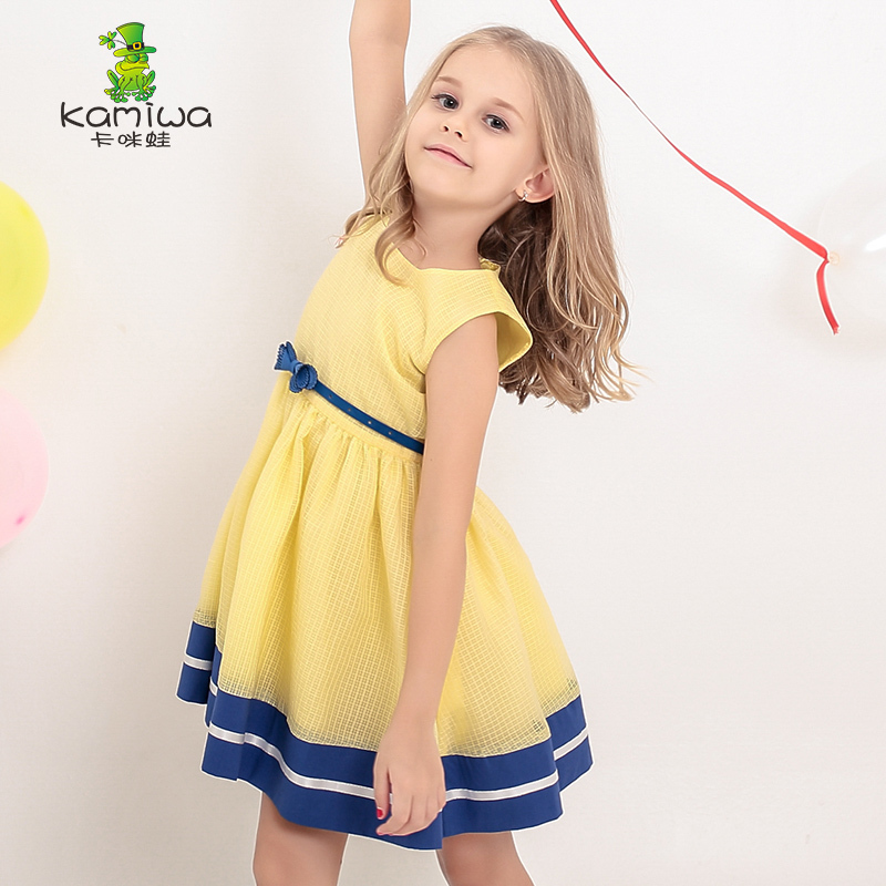 KAMIWA 2015 Summer Style Butterfly Chiffon Wedding Princess Party Brand Girls DressesTeenage Baby Children Clothing Kids Clothes - Hangzhou Angelababy KIDS Co.,Ttd store