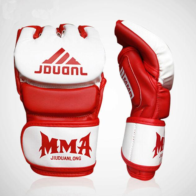 PU Leather MMA Muay Thai Training Gloves Sanda Mitts Sandbag Punching Sparring Boxing Gloves Half Finger(China (Mainland))