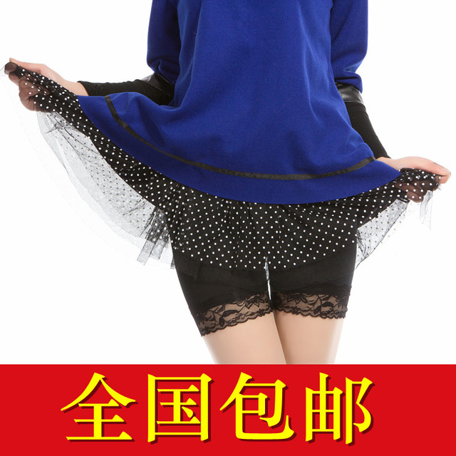 Modal safety pants female summer shorts viscose lace legging