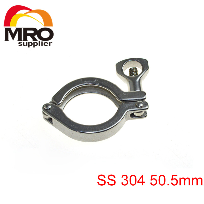 Quot sanitary tri clamp ss clover fits mm od