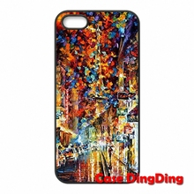 Night Street Oil Painting iPhone 4 4S 5 5C SE 6 6S Plus Apple iPod Touch Moto X1 Phone Case Skin Cover - Cases Ding store