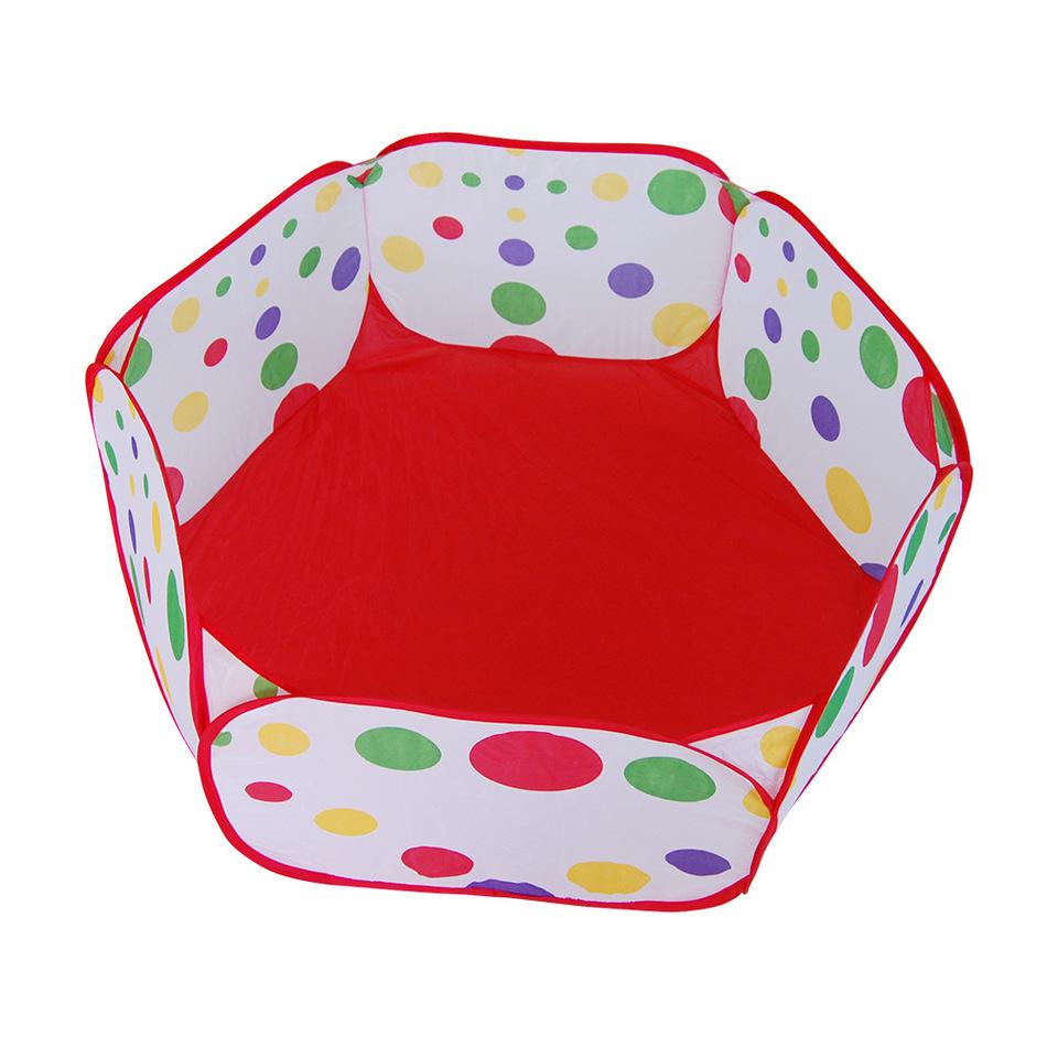 Kids Playpen Polka Dot Hexagon Indoor Ball Pool Play Tent Safety Mesh Baby Baby Play Yard Fence(China (Mainland))