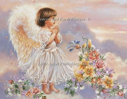 Needlework,DIY Cross stitch,Sets Embroidery kits,Prayer Angel Pattern 100% Precision Cross-Stitching flowers,Wall Home Decro - Decoration Paintings Store store
