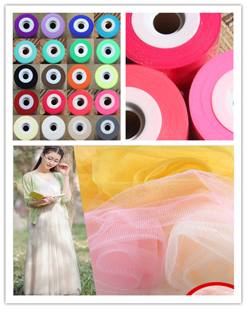 High Quality Soft Wedding Tutu Dress Tulle Fabic Roll Wedding Decoration Party Bow Newest Rainbow Flower DIY Tulle Spool(China (Mainland))
