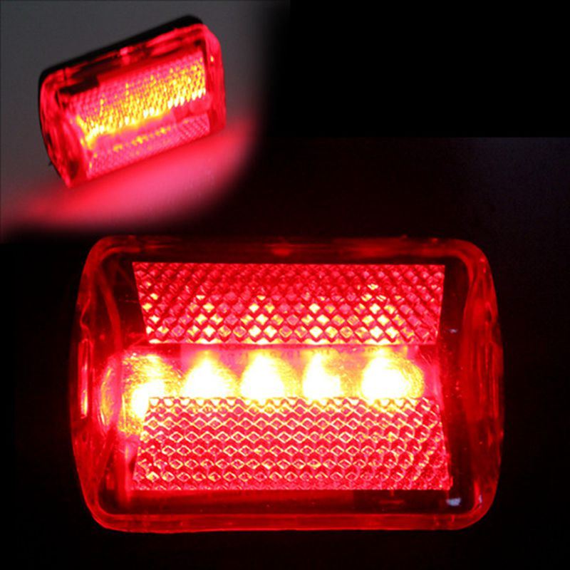 2016 New bike light Safety Bicycle 5 LED Rear Tail Light Red Back Bicycle Light Outdoor Warning lamp