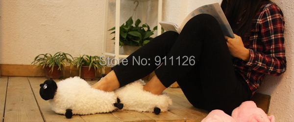 6Pairs/lot 2015 Hot Autumn winter Men Women shoes Lovely Sheep Home slippers slipper Animal indoor - GUANGZHOU FHY CO.,LTD store