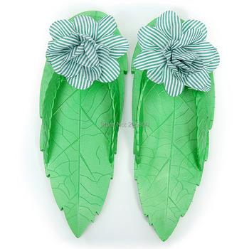 Women's Flat Heel Flip Flops Flower Polyester Slippers,More Colors