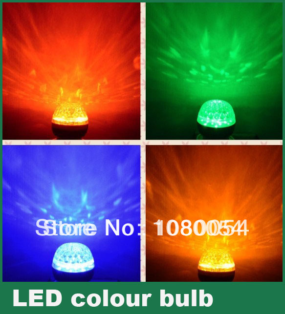 free shipping 10pcs/lot Coloured led globe bulb e27 b22 White/green/red/yellow/blue colorful rgb energy saving lamp 220v 110v(China (Mainland))