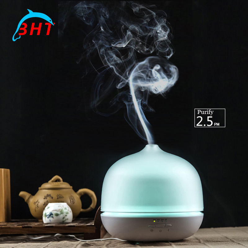 2016 Mini Portable Glass Bottle Air Humidifier Anion Aromatherapy Air Purifier Cleaner Electric Led Aroma Cool Mist Diffuser(China (Mainland))