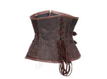 Brown Steampunk gothic Underbust Corset