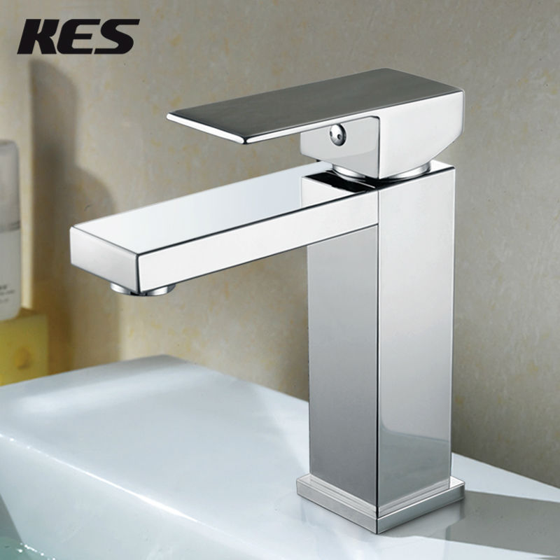 Kes Lead Free Brass Bathroom Sink Faucet Single Handle Lavatory Single Hole Vanity Sink Faucet
