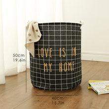 Cesta de Picnic soporte de lavandería cesta de juguete caja de almacenamiento súper grande bolsa de algodón lavado ropa sucia cesta grande organizador de la cesta(China)