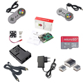 Raspberry Pi 3 Model B Board 2 Gamepad Kits 16G SD card HDMI cable ABS Box