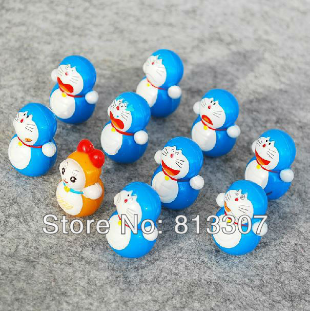 Anime Doraemon Tinker Bell Cute PVC Action Figure Roly-poly Toys 10 PCS/SET Free shipping