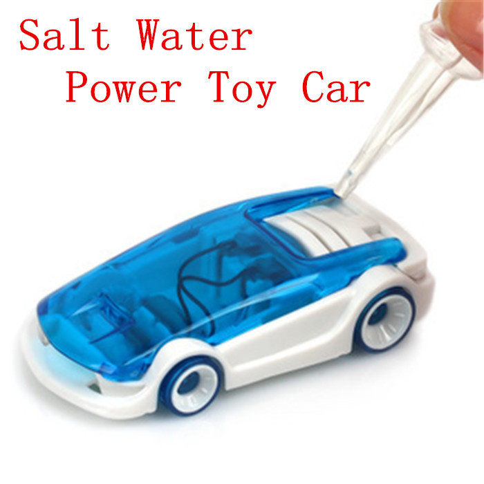 2015 New Salt Water Power Toy Car Energy Power DIY Salt Water Powered Car Kits 1pc Free Shipping(China (Mainland))