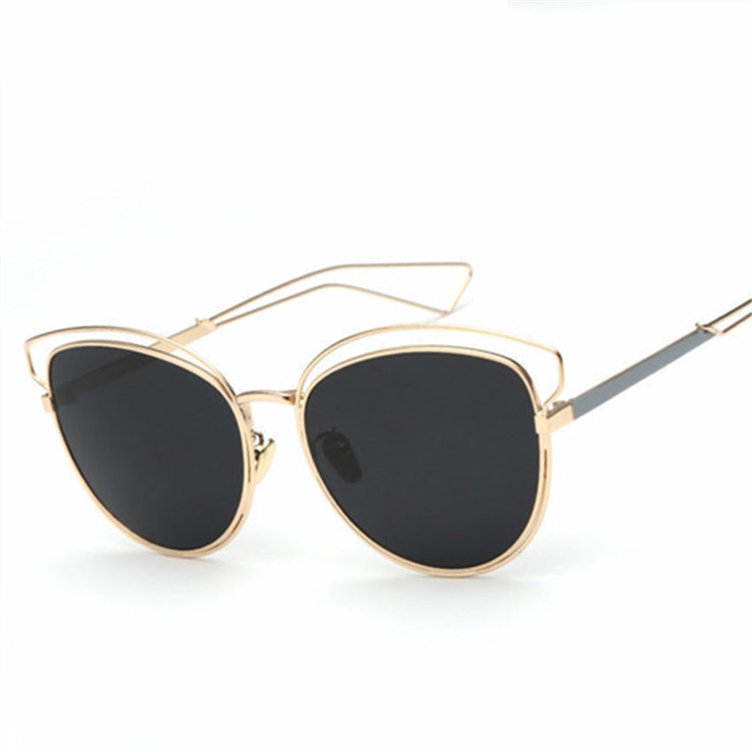 Glasses Metal Frame Dior : Fashion Brand Designer Real Metal Frame Sunglasses Women ...