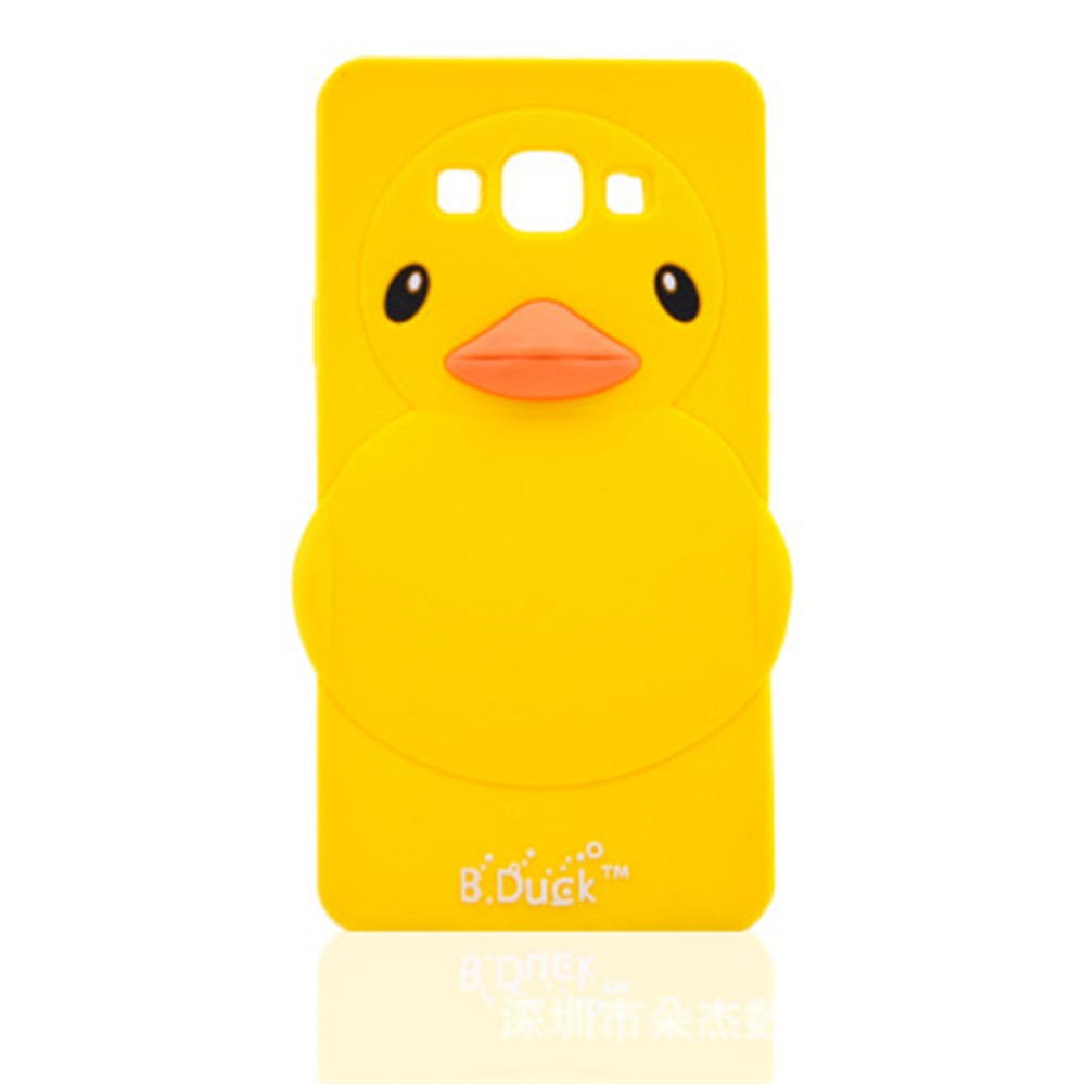 3D Cartoon Yellow Duck Soft Silicone Cover Back Rubber Case Samsung Galaxy S7edge Note5 Ace4 G530 J2 J5 J7 A8 A3 A5 A7  -  W&X-Buy store