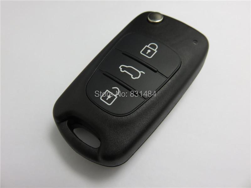 10pcs/lot Uncut Blade 3 Buttons Flip Remote Key Shell For Kia K2 K5 Hyundai Kia Car Keys Blank Case Cover With Hyudai LOGO(China (Mainland))