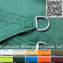 Customize 180g Waterproof Polyester fabric PU Sun Shade Sail Screens with Straight or Arc edge Rings or eyelets for garden decor(China (Mainland))