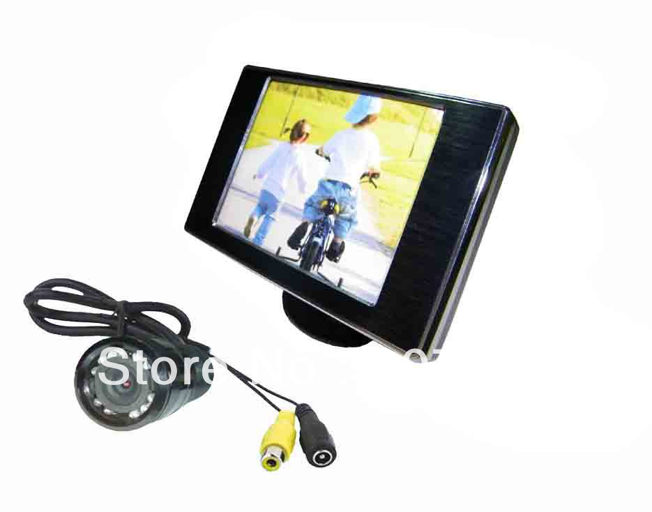 Car Rearview Camera System / High Definition Waterproof Camera with Car Digital Panel Rearview LCD Monitor Wired Car Camera(China (Mainland))