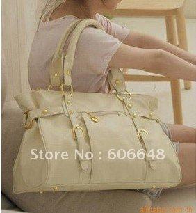 free shipping, high quality PU leather bag/fashion hangbag/Star's favorite shoulder bag/The most popular Boston bag